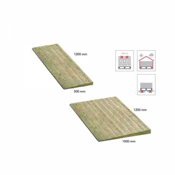 Rockwool Rockfall 500 ellenlejtő elemek 1200 x 500 mm, 0-60 mm